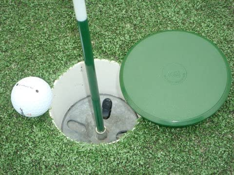 "Customizable Golf Hole Cup Cover for All Regulation 4"" & 6"" Deep Putting Green Cups"