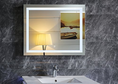36X28 Inch LED Lighted Bathroom Mirror With Touch Switch (GS099-3628) by GS MIRROR