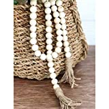 Aglife Natural Wood Bead Garland Set with