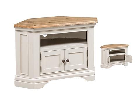 Francés pintado esquina roble mueble de TV - mueble de ...