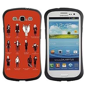 Hybrid Anti-Shock Bumper Case for Samsung Galaxy S3 / Cool Vampire Types wangjiang maoyi