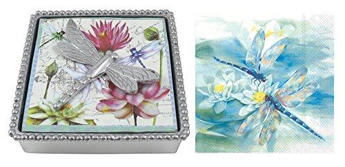 - Mariposa Beaded Napkin Box with Dragonfly Napkin Weight & 2 sets of Napkins