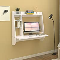 WLIVE Wall Mount Floating Desk with Storage