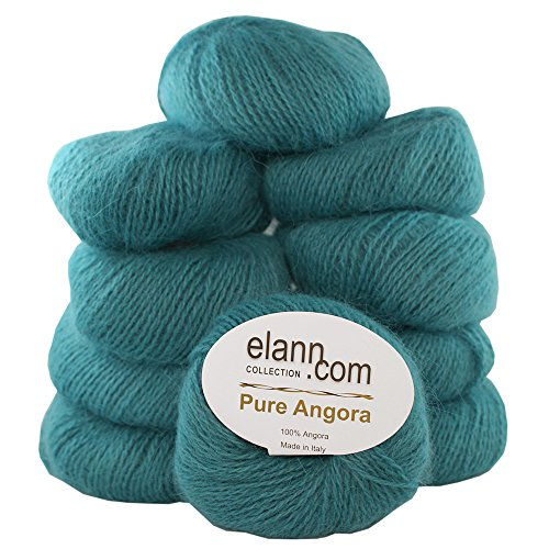 (elann Pure Angora Yarn   10 Ball Bag   Beach Glass Teal-12 )