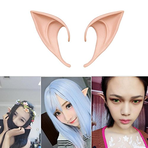 Most Tasteless Halloween Costumes (1 Pair Cosplay Fairy Pixie Elf Ears Accessories Halloween Party Anime Party Costume(Natural skin color))