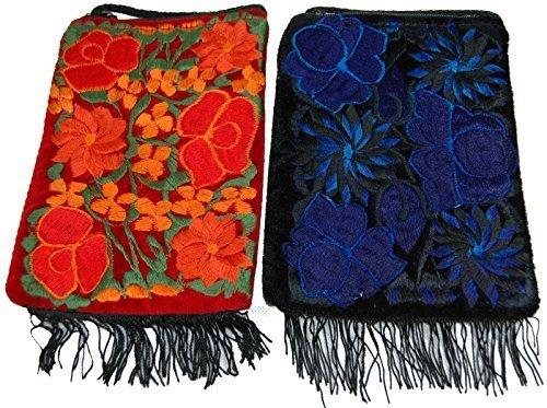 Viaje Justo Importación Del Roja Guatemala Teléfono Bolso De Monedero Del Hippy Comercio Hombro M50fesb EvwPa