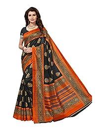 Shonaya Women`S Party Wear Bhagalpuri Silk Printed Sareee … (Black)