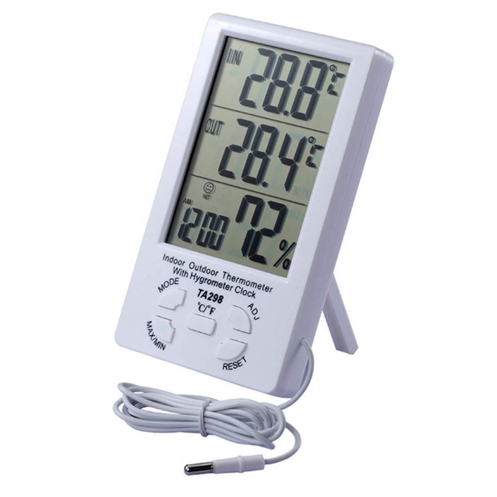 TLfyajJ Tester di umidit/à di Temperatura del termometro Digitale dellinterno//allaperto di TA298 Igrometro
