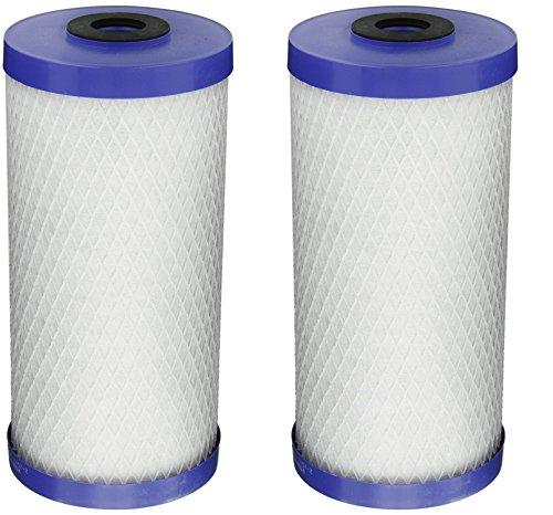 Pentek EP-BB Carbon Block Filter Cartridge, 9-3/4'' x 4-5/8'', 5 Microns (Pack of 2) by Pentek