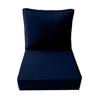 DBM IMPORTS AD101 Piped Trim Large 26x30x6 Deep Seat + Back Slip Cover Only Outdoor Polyester : Garden & Outdoor
