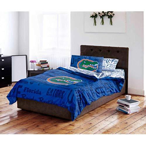 Florida Gators NCAA QUEEN Comforter & Sheet Set (5 Piece Bed Bag)