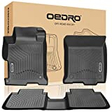 oEdRo Floor Mats Compatible for 2013-2017 Honda Accord Sedans, Unique Black TPE All Weather Guard Includes 1st and 2nd Row: Front, Rear, Full Set Liners
