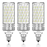 TSOCO E12 LED Bulbs,16W LED Candelabra Bulbs,120W Incandescent Bulb Equivalent,1400LM,6000K Daylight White, E12 Base Non-Dimmable LED Lamp,Pack of 3