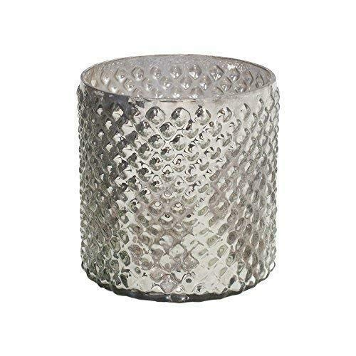 Serene Spaces Living Antique Silver Hobnail Vase, Medium - Beautiful Mercury Glass in a Vase, 5