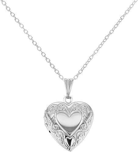 Amazon Com In Season Jewelry Silver Tone Picture Photo Small Love