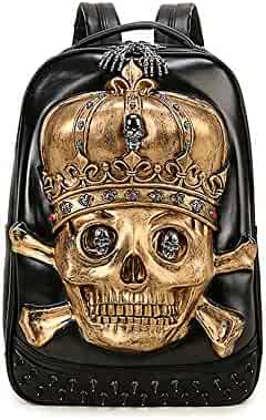 25a4957355 It s In The Bag Skull Metal Pattern Male Creative 3D Personality Rivet Cool  Street Hip Hop