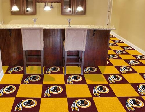 - Fanmats Washington Redskins Team Carpet Tiles