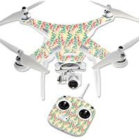MightySkins Protective Vinyl Skin Decal for DJI Phantom 3 Standard Quadcopter Drone wrap cover sticker skins Electric Palms