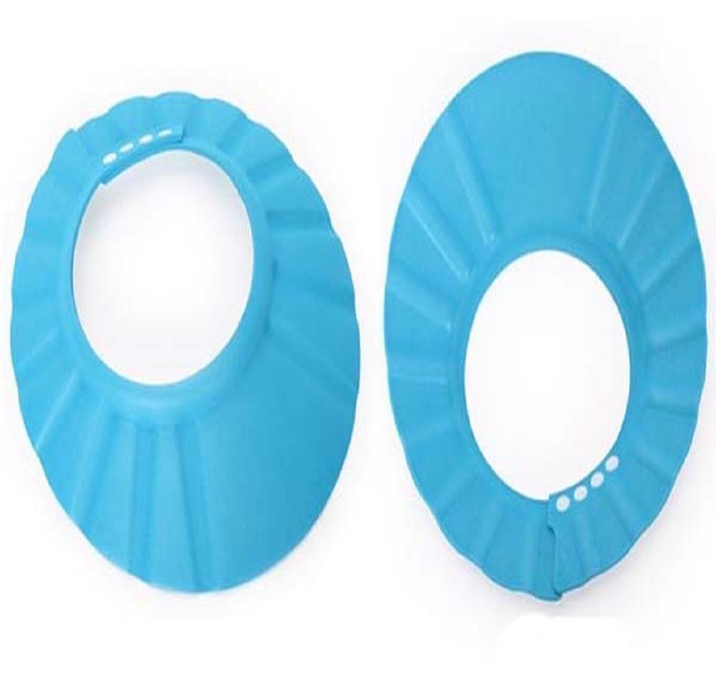 le bain Maintient leau hors de leurs yeux et de leur visage Pour le shampoing la douche Bleu Bonnet de protection souple et s/écuris/é Isuper pour enfants b/éb/és