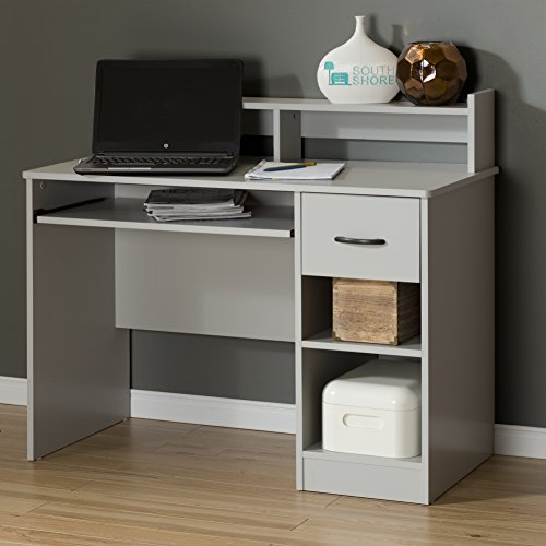 South Shore Axess Desk with Keyboard Tray, Soft Gray