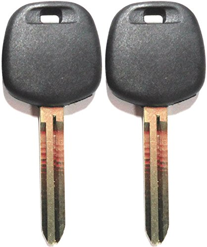 For Select Toyota Pair(2) Uncut Master Transponder Chip Key Blanks Replacement Key 4C (Toyota Master Key Blank)