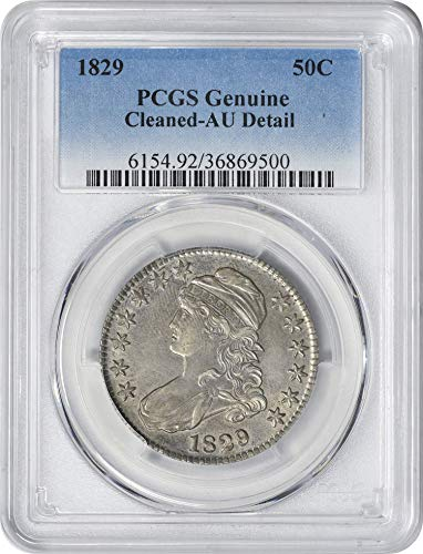 1829 Bust Cleaned- AU Detail Half Dollar Genuine PCGS