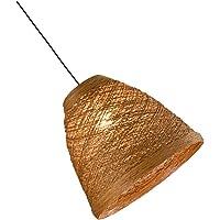 Mobestech Rattan Tecido Pendente Do Candelabro Da Lâmpada de Luz De Teto De Bambu Dispositivo Elétrico Da Lâmpada Do…