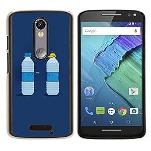 For Motorola Droid Turbo 2 / Moto X Force Case , Agua divertido Duelo- Diseño Patrón Teléfono Caso Cubierta Case Bumper Duro Protección Case Cover Funda