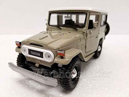 new-124-display-motor-max-american-classics-beige-toyota-fj40-diecast-model-car-by-motor-max