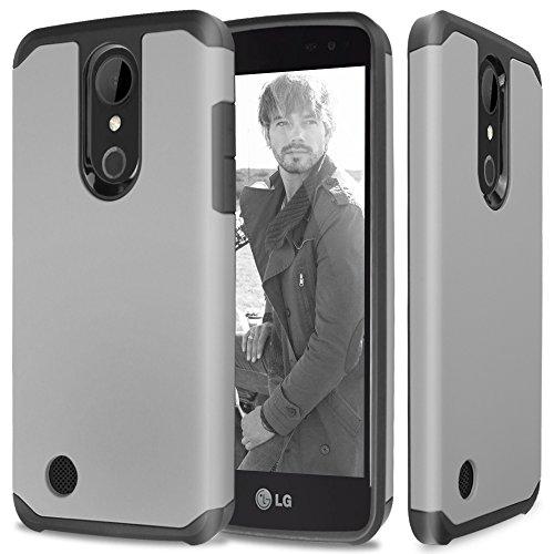 LG K20 Plus Case, LG K20 V Case, LG Harmony Case, LG Grace 4G LTE Case, TJS Ultra Thin Slim Hybrid Shockproof Impact Rugged Case Armor Cover For LG K20 Plus/Harmony/K20 V/Grace 4G LTE (Black/Grey) (Phone Cover Lg 4g)