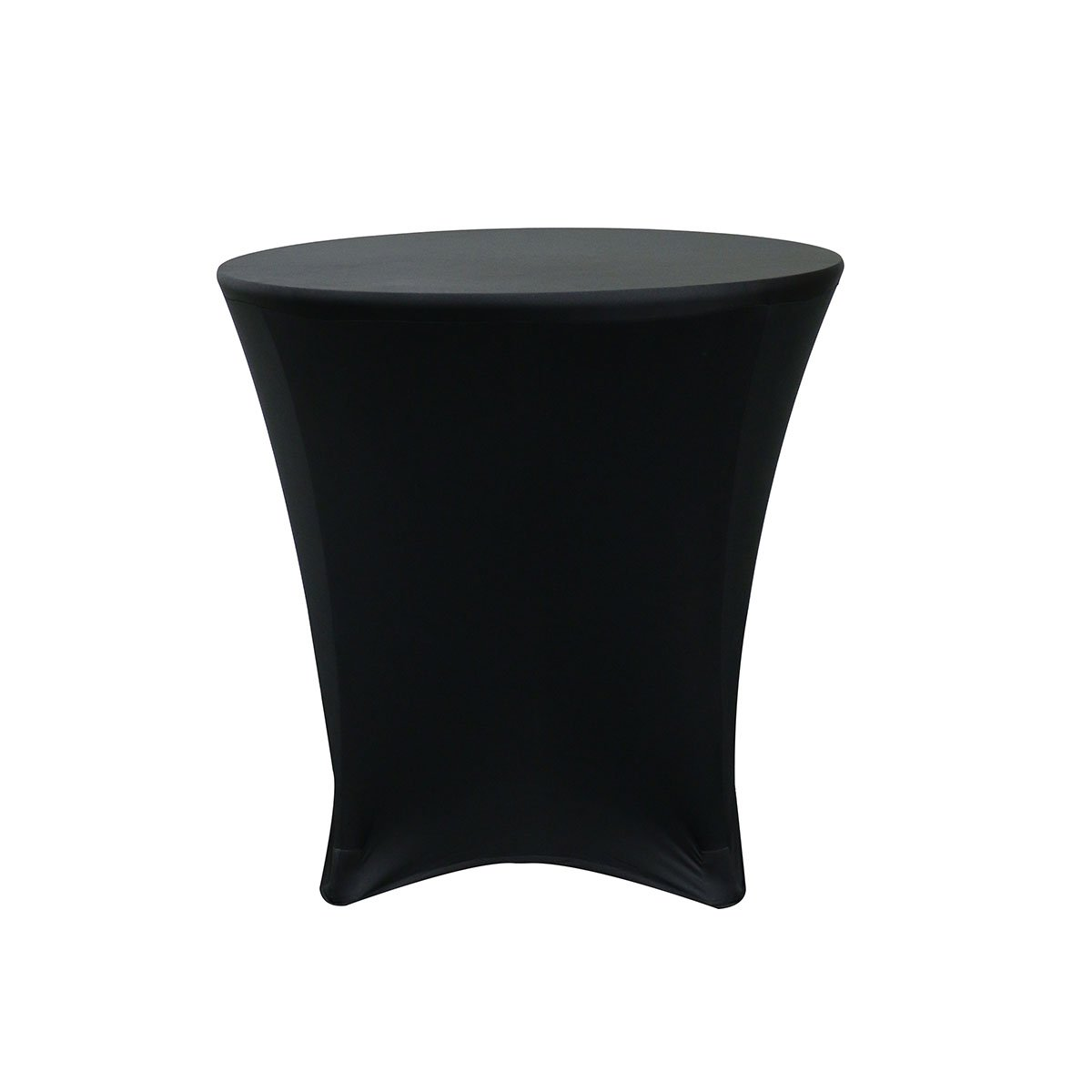 Your Chair Covers - 30 x 30 inch Lowboy Cocktail Round Stretch Spandex Table Cover Black