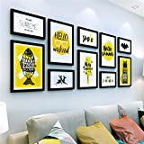 WUXK Minimalist modern living room photo wall decoration wall European creative photo frame wall photo wall combination 6