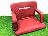 SoftTouch Extra Wide Stadium Seats for Bleachers | Stadium chairs for bleachers with back support | Bleacher seats with backs and cushion … (Aurora Red)