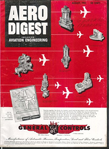 AERO DIGEST Lockheed F-94C Guided Missile Heating Supersonic Condensation 8 1951