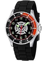 Aqua Force Firefighter Stainless Steel Case Dive Watch with 47mm Face