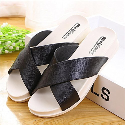 KENROLL Summer Soft Shower Slide Beach and Pool Flip Flop Slippers Non-Slip Shoes Sandals for Womens for Mens Black 0VxEVAmCE