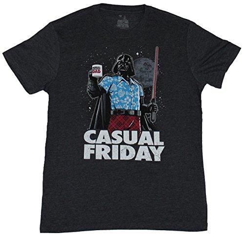 star-wars-mens-t-shirt-casual-friday-relaxed-darth-vader-image-extra-large-dark-heather-gray
