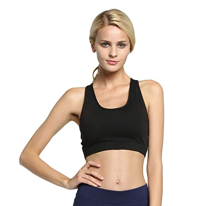Amazon.com: Women Sports Yoga Bra with Phone Pocket High ...