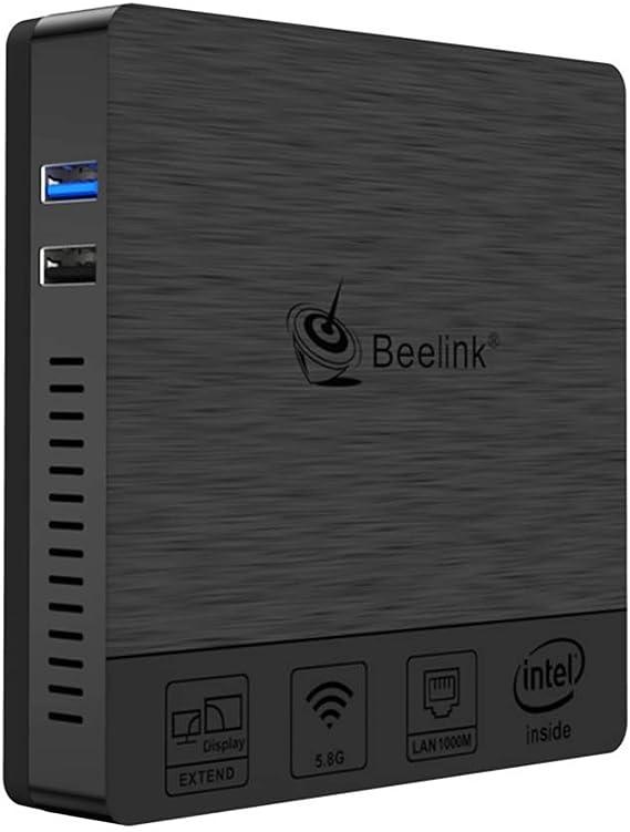 Mini PC Beelink BT3 Pro II, Mini Ordenador de Sobremesa Mini Computadora con Windows 10, HDMI&VGA, Procesador Intel Atom X5-Z8350, 4GB+64GB, 2.4G/5G Dual WiFi, BT 4.0, 4K@30Hz, 1000 Mbps LAN