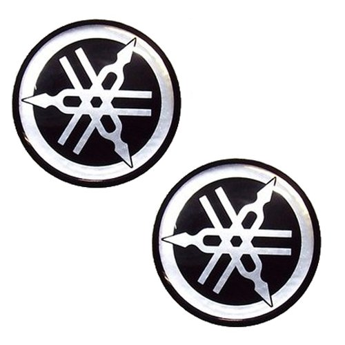 BikenWear Logo Sticker for Yamaha Fazer (Set of 2, Silver)