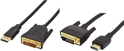 Amazon Basics Adapterkabel Hdmi Auf Dvi 1 82 Meter Elektronik