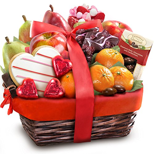 Valentine Treasures Fruit Gift Basket