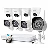 Zmodo 1080p HD NVR WiFi System 1.0 Megapixel Wide Angle Wireless Security Camera with 500GB Hard Drive, Intelligent Recording, Smart Motion Detection, Web Access (Certified Refurbished)