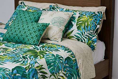 8 Piece Kona Oversized Comforter Set Queen (Queen Sets Bedding Tropical)