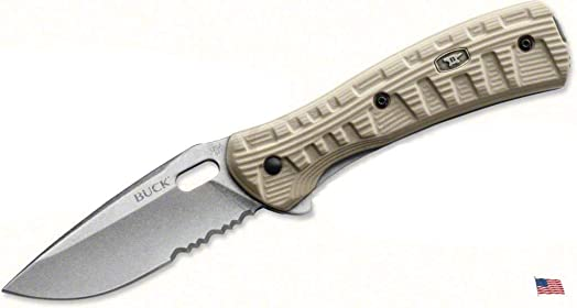 Buck 847 Vantage Force Pro Knife S30V Serrated Tan