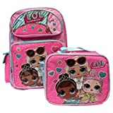 L.O.L Surprise! Small Backpack 16'' & Lunch bag 2pc set Pink School Bag Girls LOL