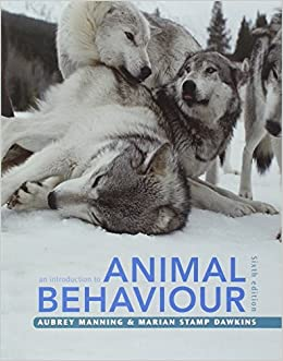 An Introduction to Animal Behaviour by Aubrey Manning (2012-03-26)
