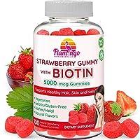 Biotin Gummies 5,000 mcg Serving for Women & Men with Non GMO Gluten Free Natural...