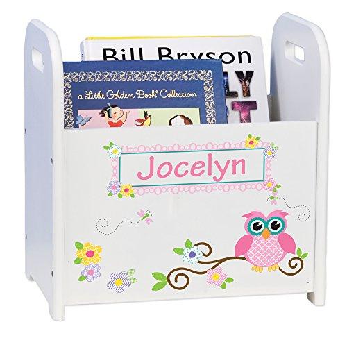 MyBambino Personalized Child's Book Storage Magazine Rack - Owl Theme