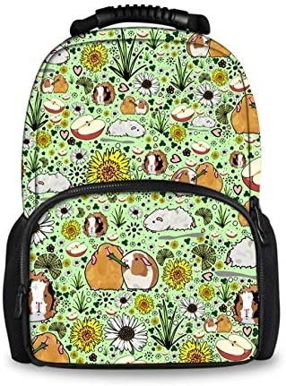 Unique waterproof Guinea Pigs and Flowers Backpack, Hiking Climbing Daypack for Boys Girls